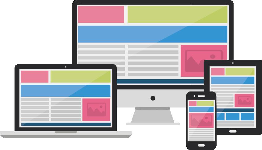 Con nuestros diseños responsive tu página web se adaptará a ordenador, tablet o móvil