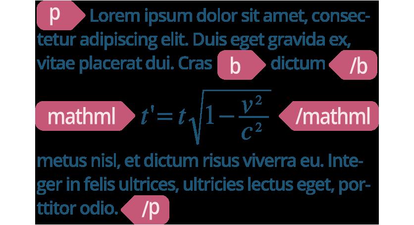 Etiquetamos con MathML tus documentos con fórmulas matemáticas