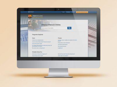 Página de aterrizaje Oficina de Atención Online FCBarcelona