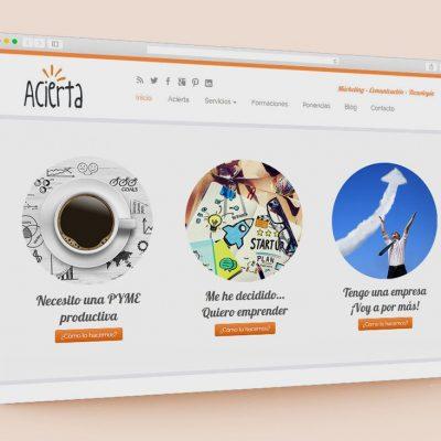 Pàgina web Acierta Consulting