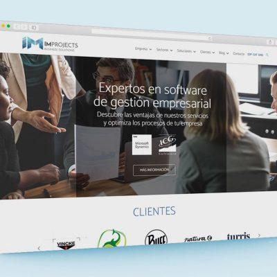 Página web IM Projects