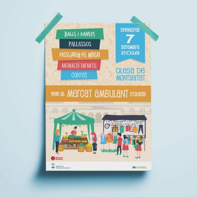 Posters y Flyers Mercat Ambulant Olesa