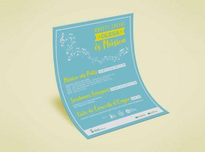 Poster Aquest juliol Olesa és Música