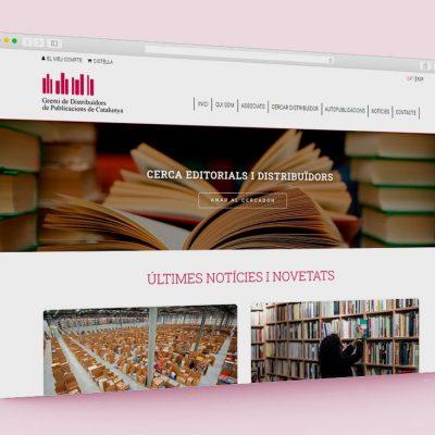 Página web Gremi de Distribuïdors de Publicacions de Catalunya