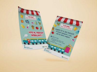 Posters i flyers Mercat Ambulant Olesa