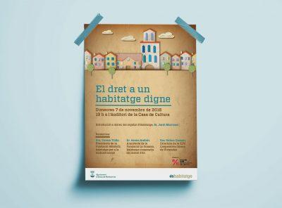 Poster El dret a un habitatge digne